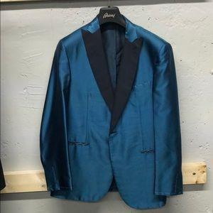 $6900 Brioni aqua silk dinner jacket. Eu 50- US 40